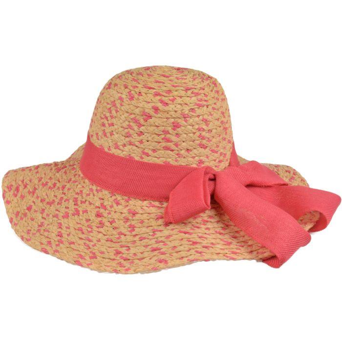 Womens Adjustable Wide Brim Summer Sun Hat - Pink