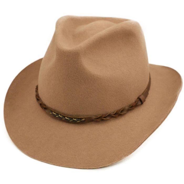 Wool Felt Cowboy Hat - Light Brown