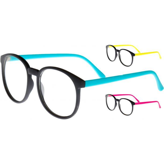 Sleek Round Clear Sunglasses