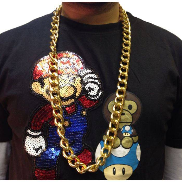 50cm Long Gold Style Hip Hop Costume Chain