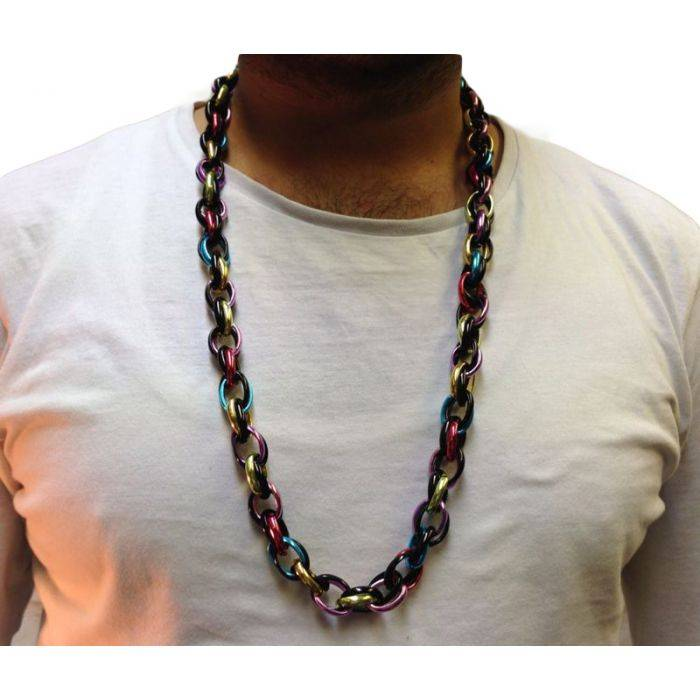 33cm Long Multi-Coloured Hip Hop Costume Chain