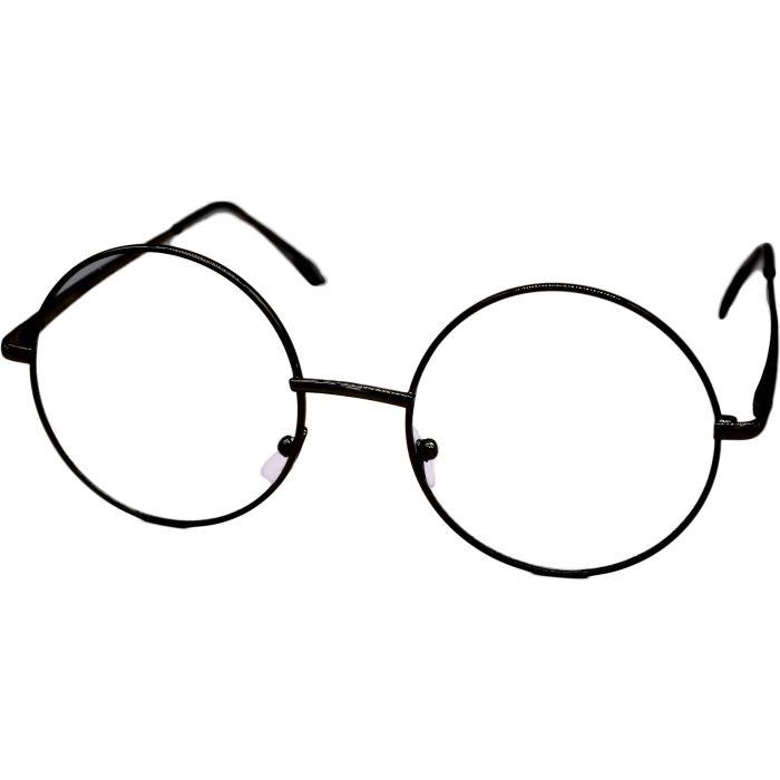 Clear Black Round Sunglasses