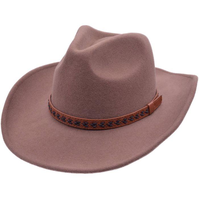 Wool Felt Cowboy Hat - Camel