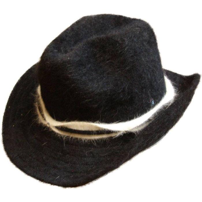 Black Angora Cowboy Hat