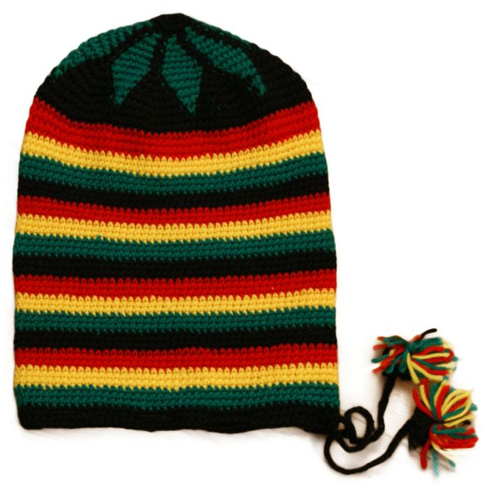 Pan African Extra Large Knitted Rasta Hat