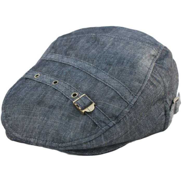 Denim Style Flat Cap