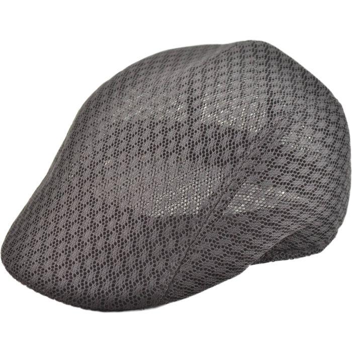 Mesh Flat Cap - Grey