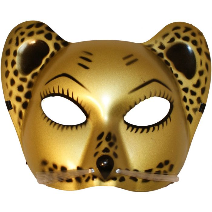 Leopard Cat Venetian Masquerade Mask - Whiskers