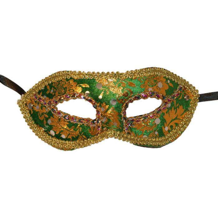 Venetian Masquerade Mask - Green