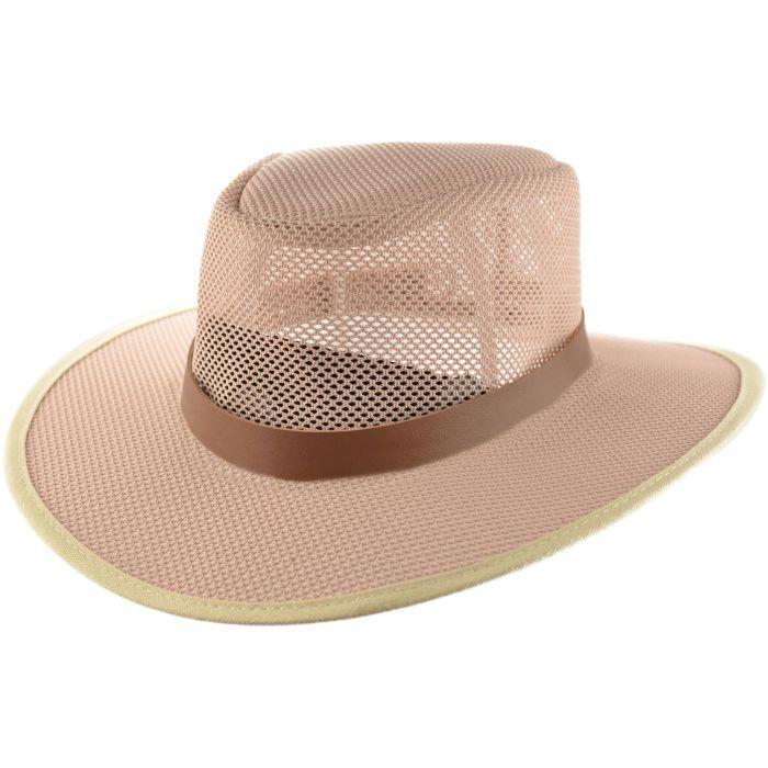 Large Brim Summer Mesh Cowboy Hat - Beige