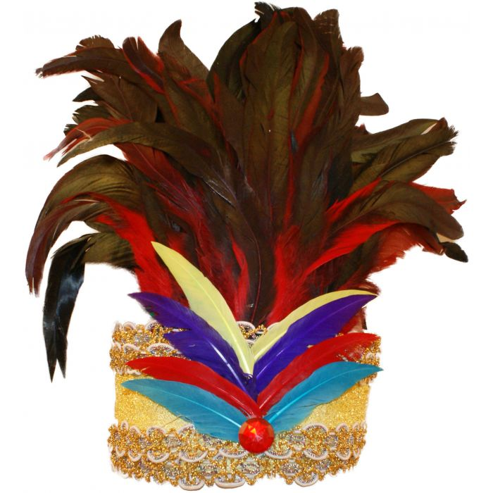 Feathered Showgirl Dancer Carnival Headdress