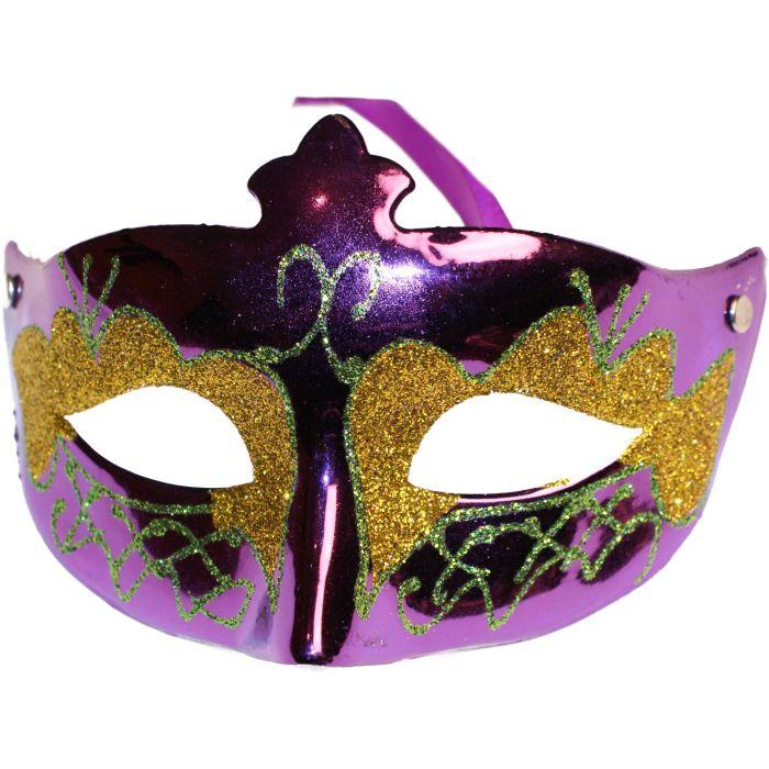Glitter Venetian Masquerade Mask - Purple