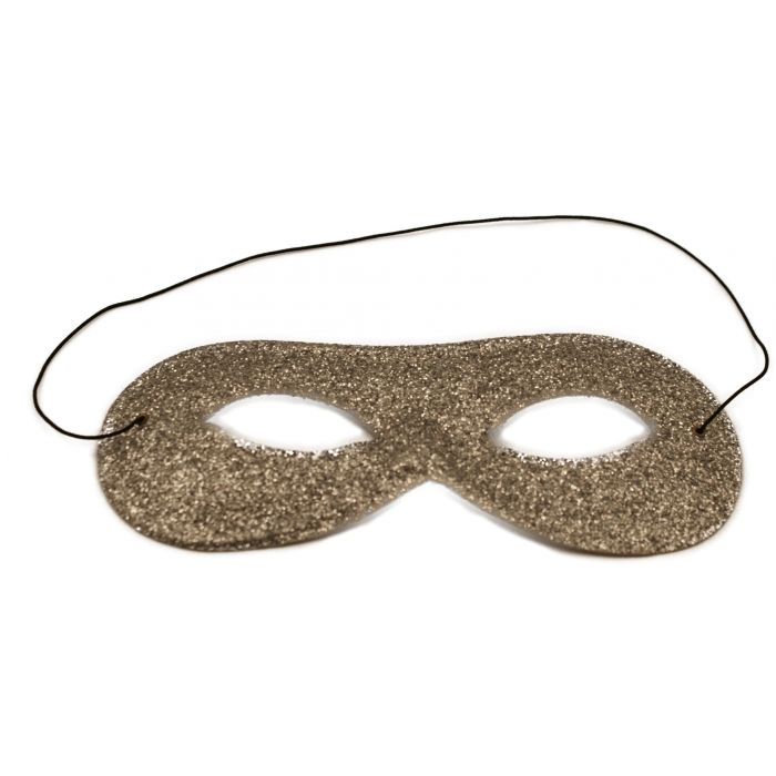 Samba Glitter Masquerade Mask - Silver