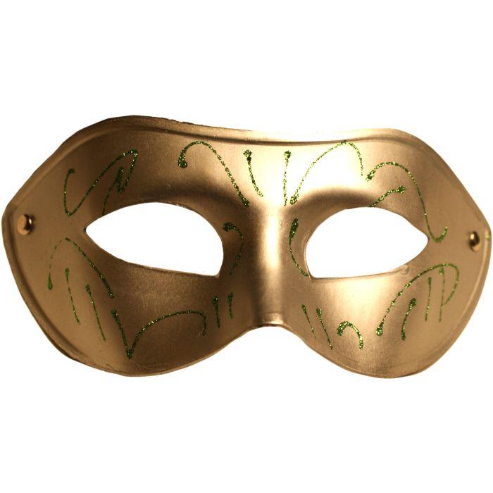 Glitter Venetian Masquerade Mask - Silver
