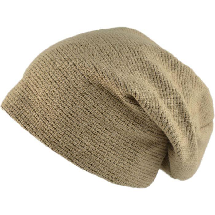 Slouch Beanie Hat - Beige