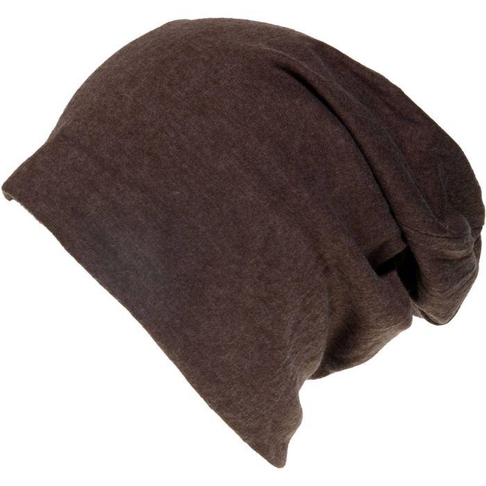 Warm Thin Slouch Beanie Hat - Brown