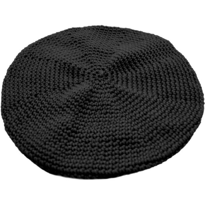 Large Knitted Black Rasta Hat