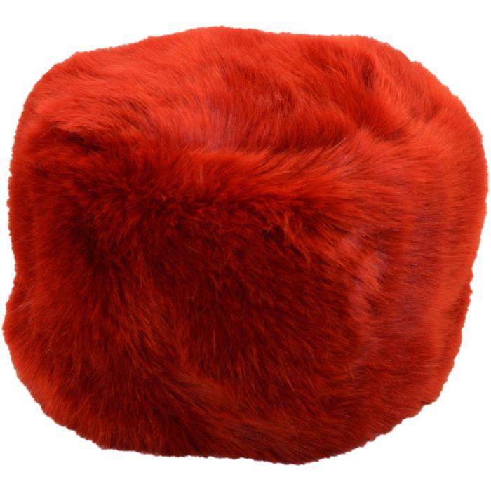 Long Faux Fur Hat - Wine Red