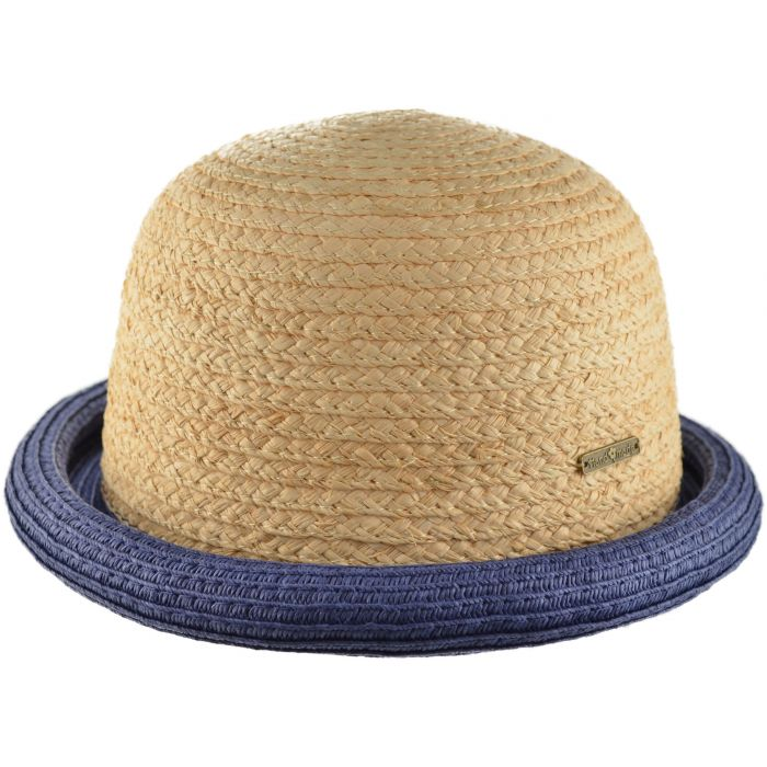 Summer Bowler Hat - Navy Blue