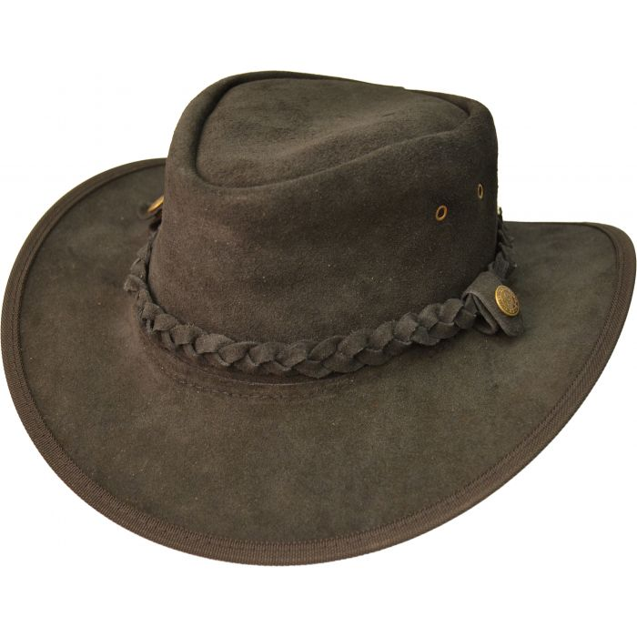 Genuine Crushable Leather Cowboy Hat
