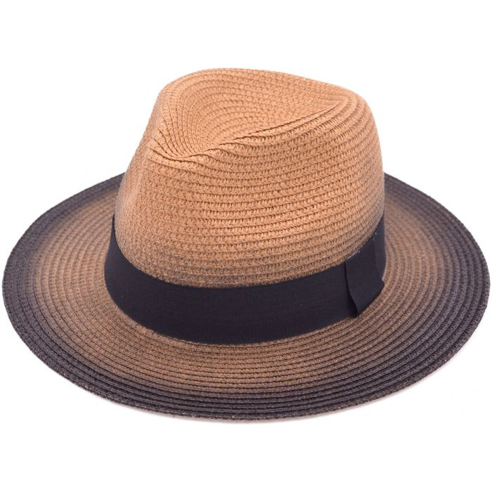 Faded Summer Panama Hat - Camel Brown