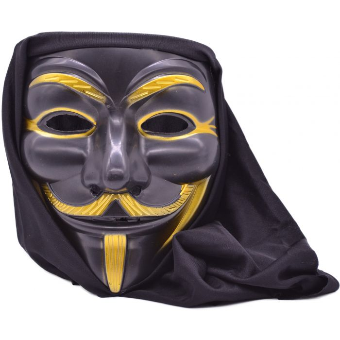 Hooded Anarchy Guy Fawkes Masquerade Mask