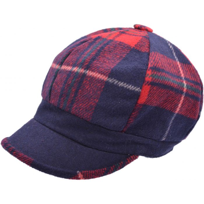Patched Womens Newsboy Cap - Navy